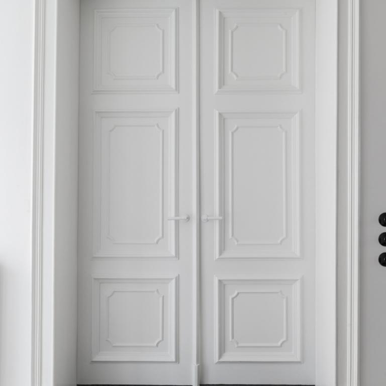 Piet Boon deurkruk op rozet wit