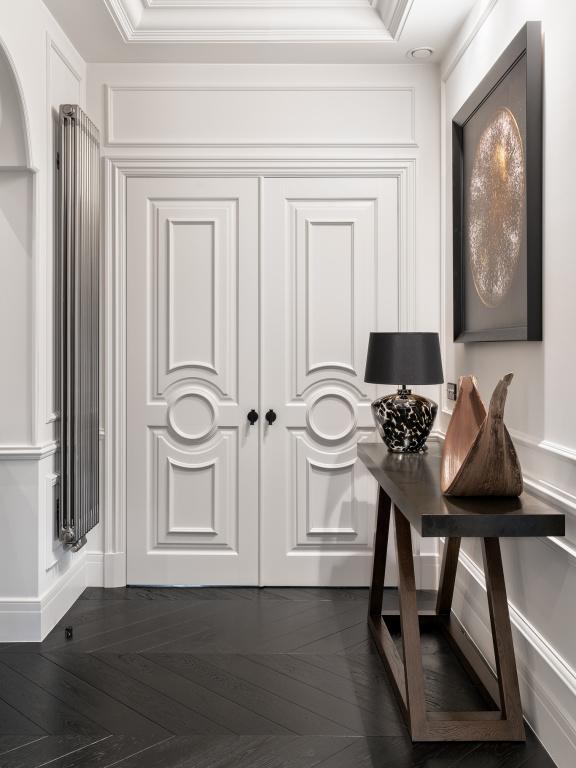 Manilla de puerta NOUR con roseta en mate negro