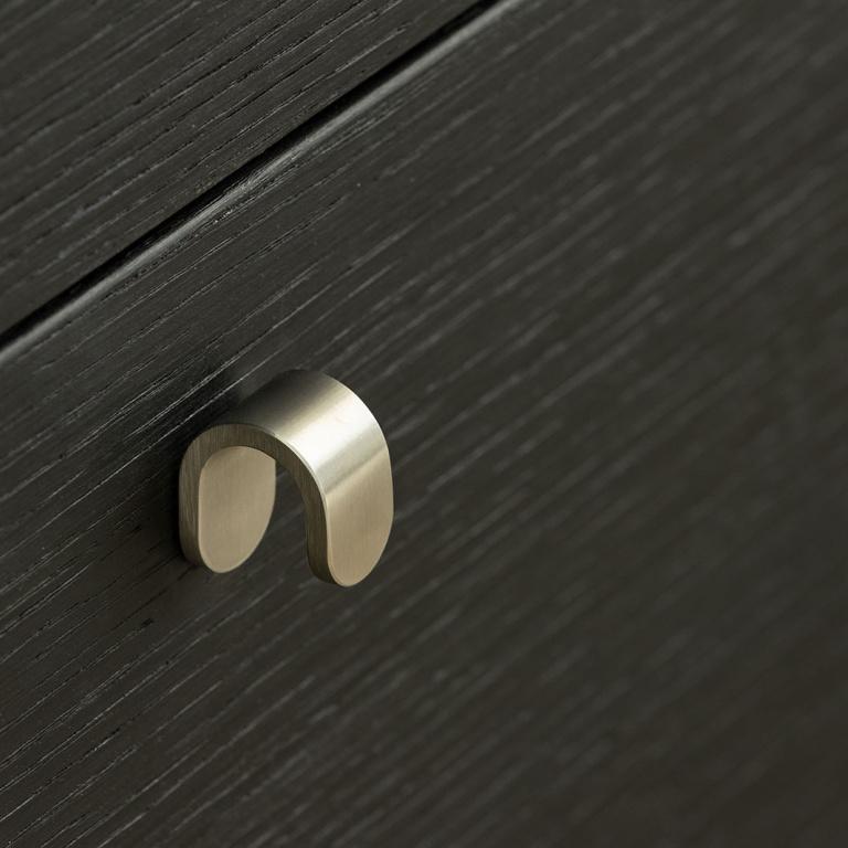 furniture knob satin stainless steel