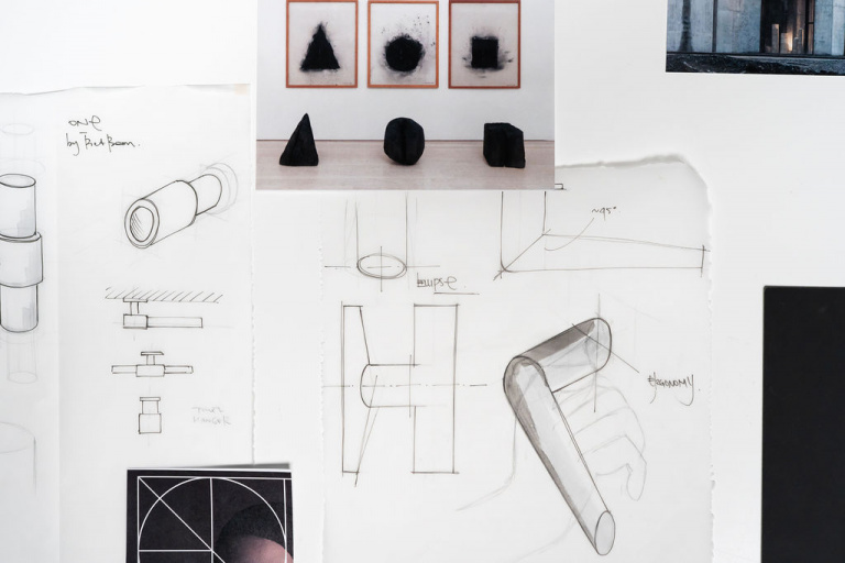Bocetos de diseño ONE, INC and ARC by Piet Boon