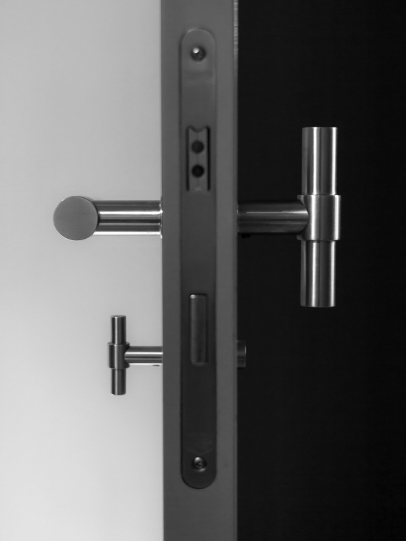 deurkruk mat roestvast staal