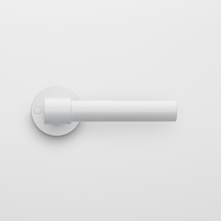 door handle satin white