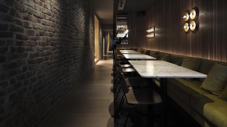 Formani referencia proyecto de diseño - Cinq restro bar - interior