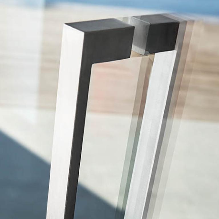 Sliding door handle satin stainless steel Formani