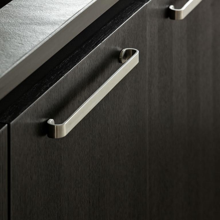 satin stainless steel furniture handle