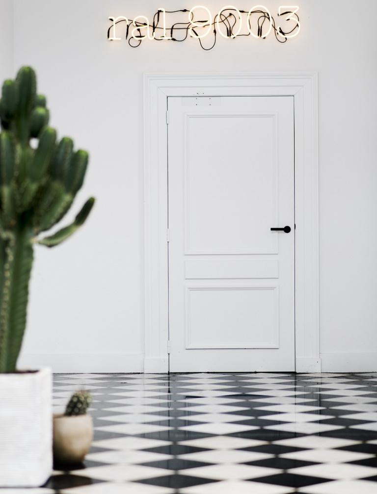 Manilla de puerta con roseta