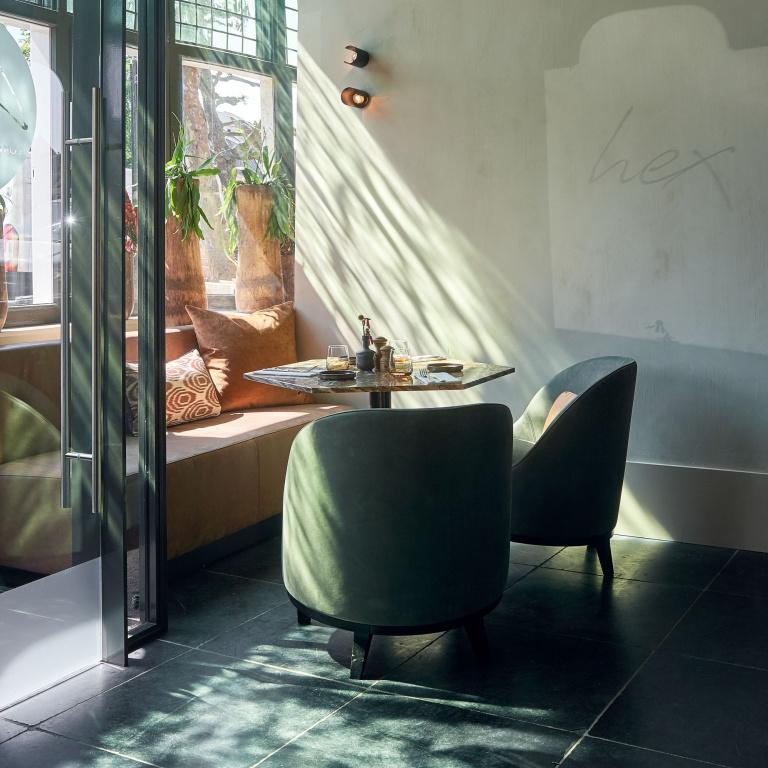 Interieur design restaurant Hex FORMANI referentie project
