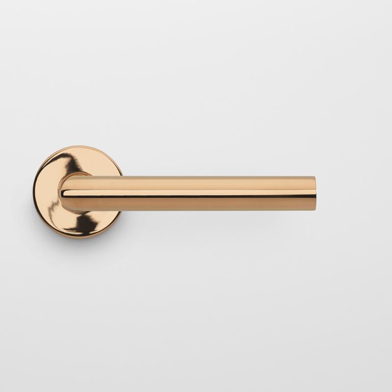 Manilla de puerta PVD pulido cobre