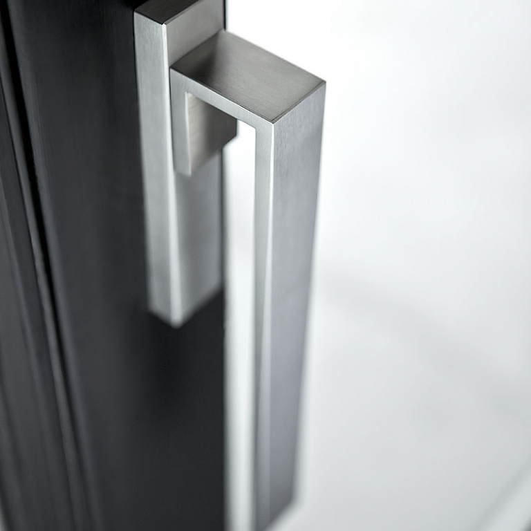 sliding door handle satin stainless steel
