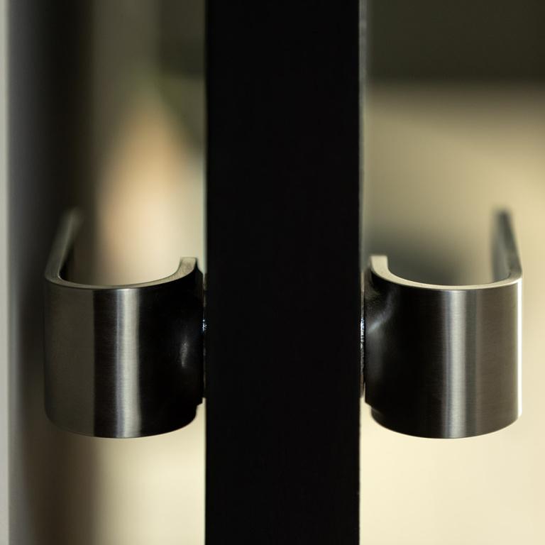 FORMANI FOLD doorhandle in satin stainless steel
