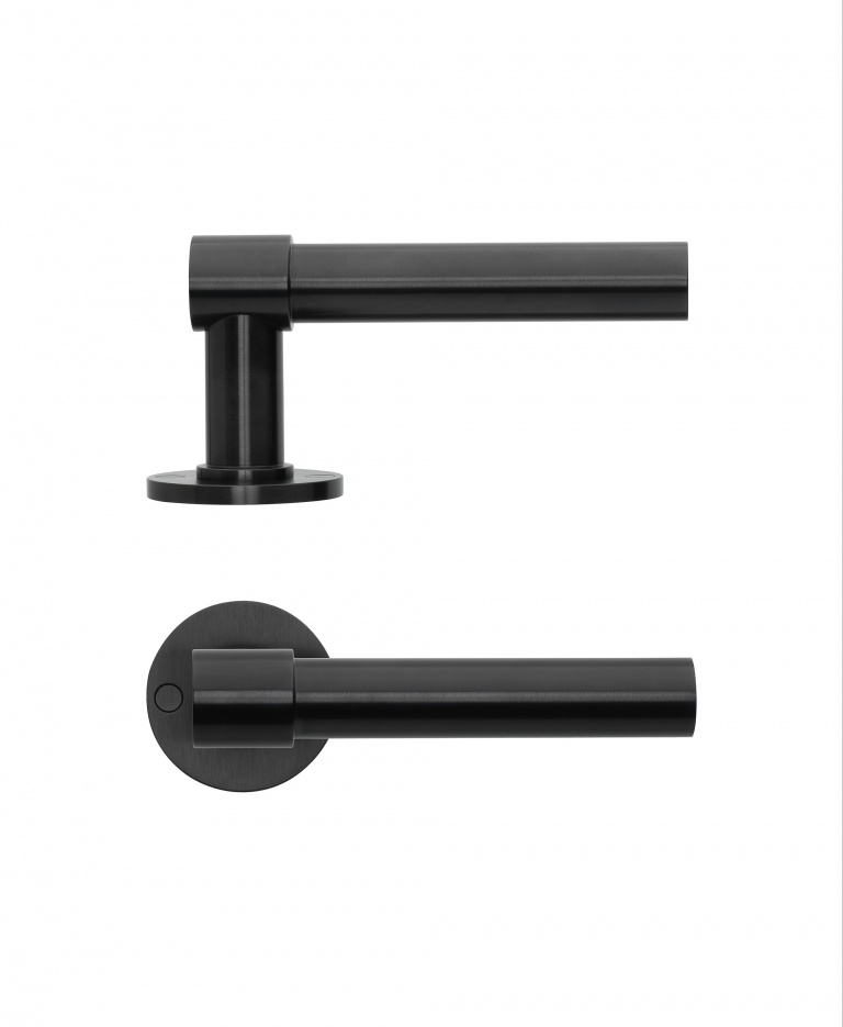 ONE door handle on rose PVD satin black