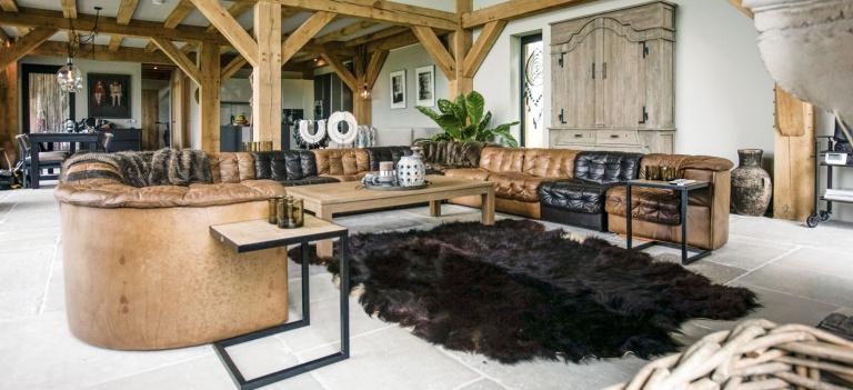 Soggiorno - progetto di riferimento di interior design villa Groningen - FORMANI