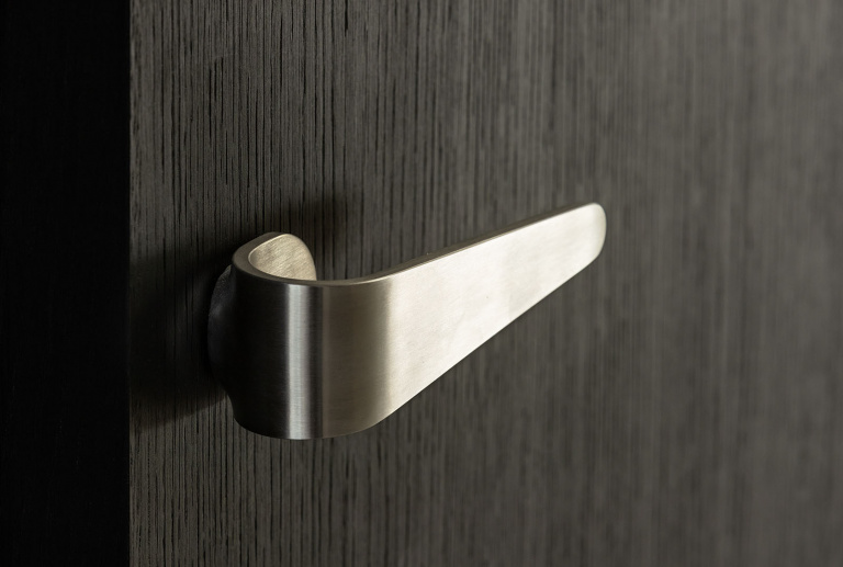 Formani FOLD by Tord Boontje door handle satin stainless steel